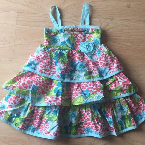 85854eb27 Penelope Mack Dresses | Nwot 3t Coral And Blue Floral Dress | Poshmark